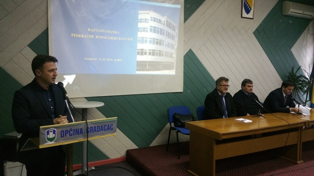 Development Bank of the Federation of Bosnia and Herzegovina presented new loan products in Gradacac
